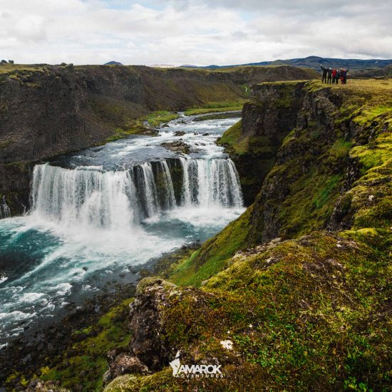 Axlafoss waterfall top things to do iceland summer