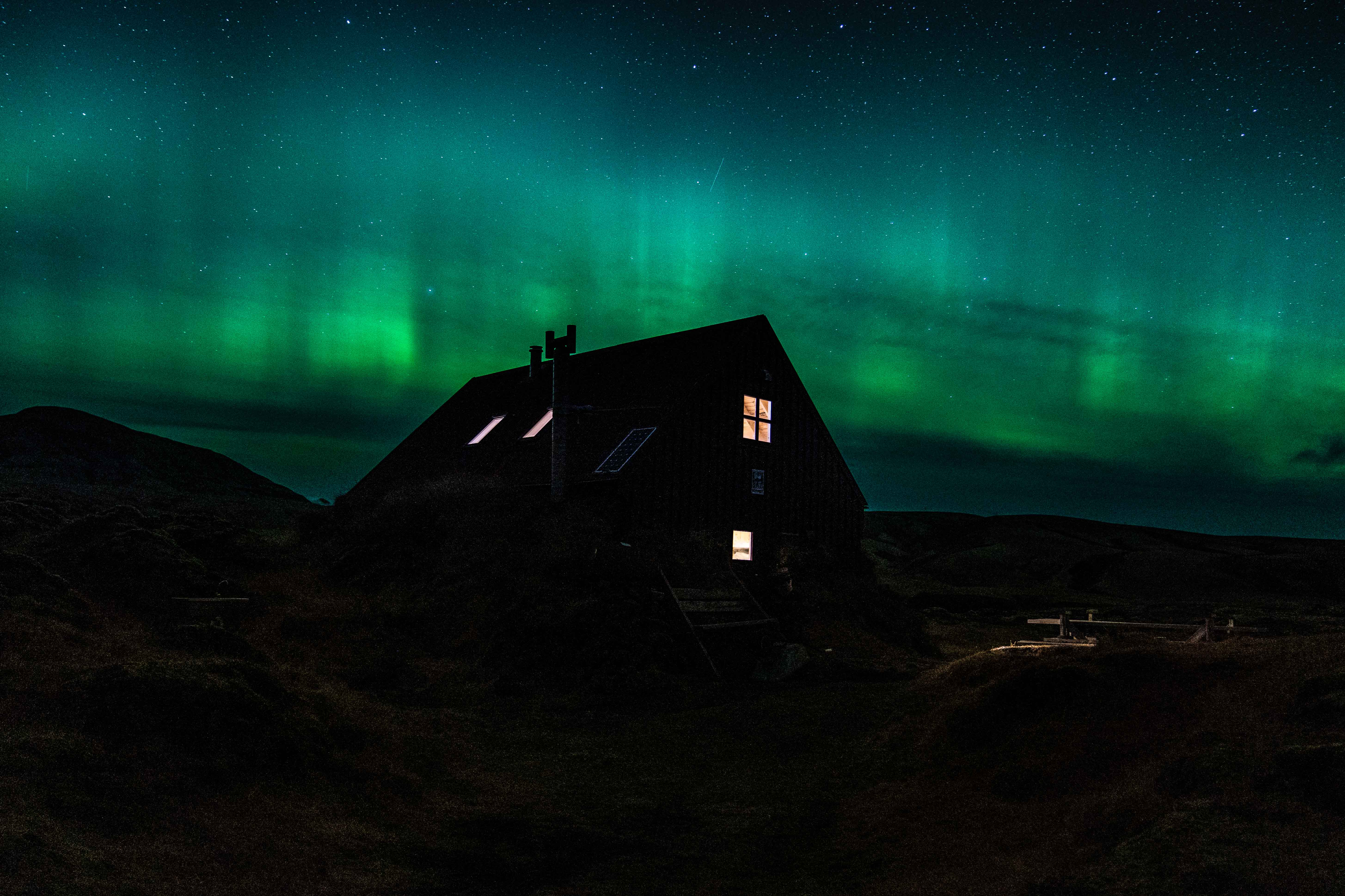 northern lights in the highlands